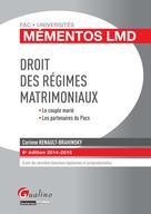 Mémento LMD - Droit des régimes matrimoniaux 2014-2015 | Renault-Brahinsky, Corinne