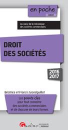 Droit des sociétés 2016-2017 | Grandguillot, Francis