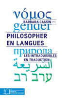 Philosopher en langues | Cassin, Barbara