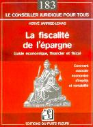 La fiscalité de l'épargne | Jarrige-Lemas, Hervé