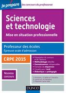 Sciences et technologie. Professeur des écoles. Oral admission. CRPE 2015 | Richard, Daniel