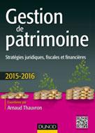 Gestion de patrimoine - 2015-2016 | Thauvron, Arnaud