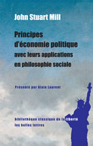 Principes d'économie politique avec leurs applications en philosophie sociale   Mill, John Stuart