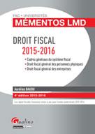 Mémentos LMD - Droit fiscal 2015-2016 | Baudu, Aurélien