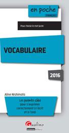 Vocabulaire 2016 | Nishimata, Aline