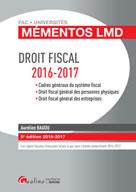 Mémentos LMD - Droit fiscal 2016-2017 | Baudu, Aurélien