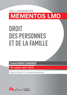Droit des personnes et de la famille | Renault-Brahinsky, Corinne