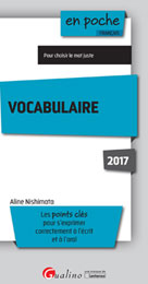 Vocabulaire | Nishimata, Aline