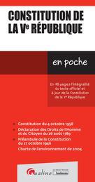 Constitution de la Ve République | Collectif,