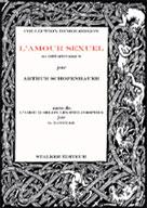 L'amour sexuel   Schopenhauer, Arthur