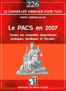 Le PACS en 2007 | Jarrige-Lemas, Hervé