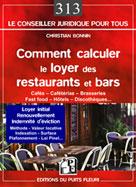 Comment calculer le loyer des restaurants et bars | Bonnin, Christian
