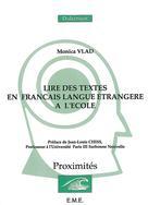 La lecture en français langue étrangere à l'école | Vlad, Monica